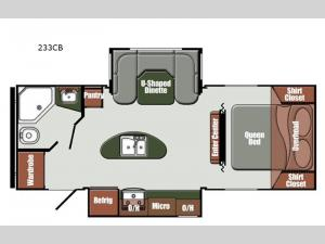 Streamlite Ultra Lite 233CB Floorplan Image