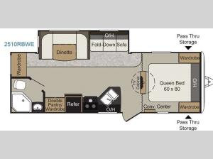 Passport 2510RBWE Grand Touring Floorplan Image