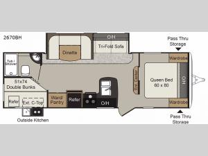 Passport 2670BH Grand Touring Floorplan Image
