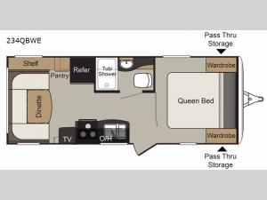 Passport 234QBWE Express Floorplan Image