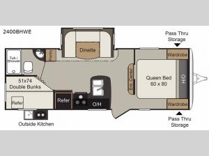 Passport 2400BHWE Grand Touring Floorplan Image
