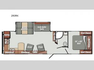 Streamlite Ultra Lite 293RK Floorplan Image