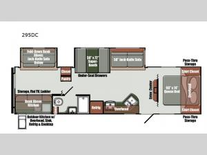 Streamlite Ultra Lite 295DC Floorplan Image