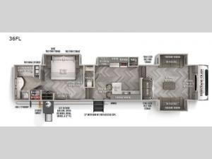 Wildwood Heritage Glen Elite Series 36FL Floorplan Image