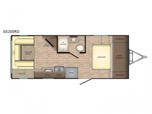Sunset Trail Super Lite SS200RD Floorplan Image