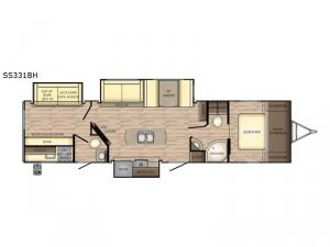 Sunset Trail Super Lite SS331BH Floorplan Image