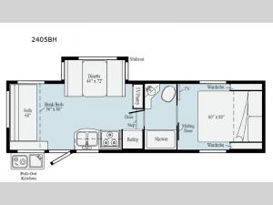 Micro Minnie 2405BH Floorplan Image