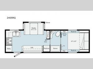 Micro Minnie 2405RG Floorplan Image