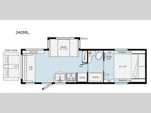 Micro Minnie 2405RL Floorplan Image