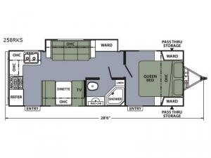 Apex Ultra-Lite 258RKS Floorplan Image