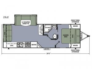 Apex Ultra-Lite 25LE Floorplan Image