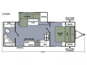 Apex Ultra-Lite 232RBS Floorplan Image