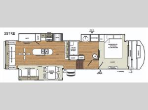 Sandpiper 357RE Floorplan Image
