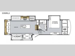 Cardinal Luxury 3350RLX Floorplan Image