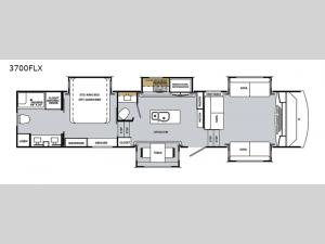 Cardinal Luxury 3700FLX Floorplan Image