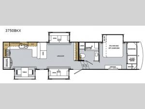 Cardinal Luxury 3750BKX Floorplan Image