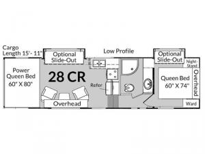 Genesis Supreme 28 CR Floorplan Image