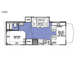 Sunseeker 2290S Ford Floorplan Image