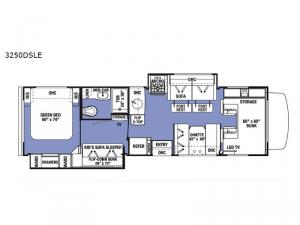 Sunseeker LE 3250DSLE Ford Floorplan Image