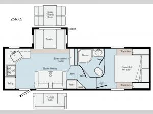 Minnie Plus 25RKS Floorplan Image
