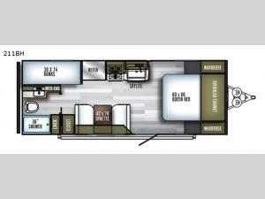 SolAire Ultra Lite 211BH Floorplan Image