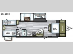 SolAire Ultra Lite 292QBSK Floorplan Image