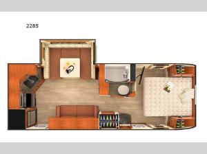 Lance Travel Trailers 2285 Floorplan Image