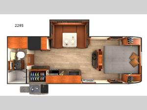 Lance Travel Trailers 2295 Floorplan Image