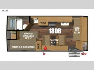 Black Rock Back Country Series 18DB Floorplan Image