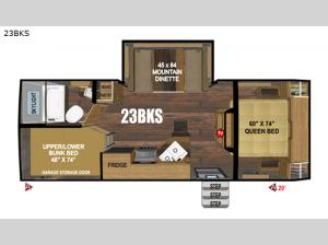 Black Rock Back Country Series 23BKS Floorplan Image