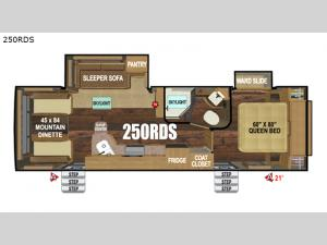Black Stone Mountain Series 250RDS Floorplan Image