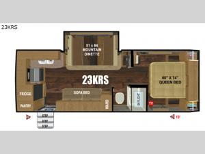 Creek Side Titanium Series 23KRS Floorplan Image