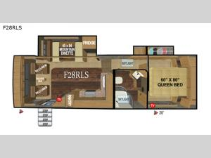 Glacier Peak Mountain Series F28RLS Floorplan Image
