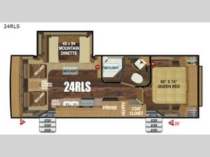 Timber Ridge Mountain Series 24RLS Floorplan Image