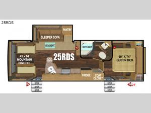 Timber Ridge Mountain Series 25RDS Floorplan Image