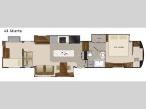 Elite Suites 43 Atlanta Floorplan Image