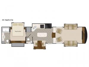 Elite Suites 44 Nashville Floorplan Image
