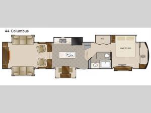 Elite Suites 44 Columbus Floorplan Image