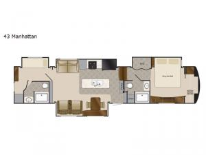 Mobile Suites 43 Manhattan Floorplan Image