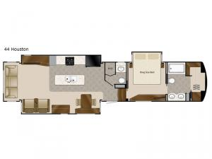 Mobile Suites 44 Houston Floorplan Image