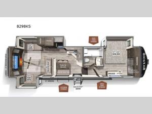 Rockwood Signature Ultra Lite 8298KS Floorplan Image