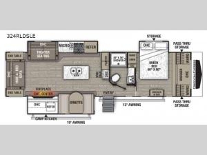 Freedom Express Maple Leaf Edition 324RLDSLE Floorplan Image