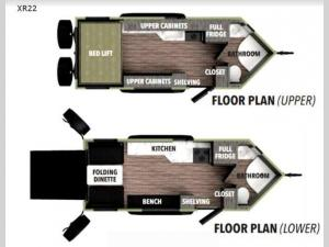 XploreRV XR22 Floorplan Image