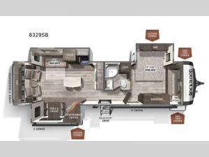 Rockwood Signature Ultra Lite 8329SB Floorplan Image