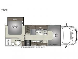 Orion T21RS Floorplan Image