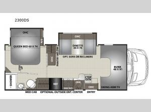 Prism 2300DS Floorplan Image