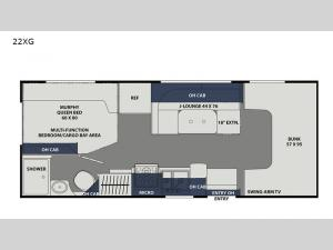 Freelander 22XG Chevy 4500 Floorplan Image