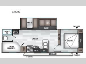 Salem 27DBUD Floorplan Image