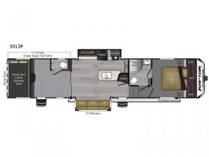 Raptor Predator Series 3513 Floorplan Image