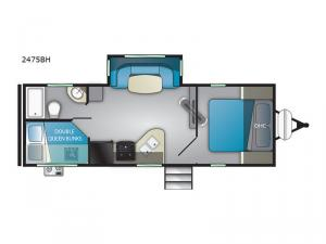 Wilderness 2475BH Floorplan Image